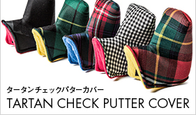 TARTAN CHECK PUTTER COVER タータンチェックパターカバー