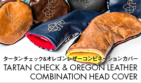 TARTAN CHECK & OREGON LEATHER COMBINATION HEAD COVER ������������å�&���쥴��쥶������ӥ͡�����󥫥С�